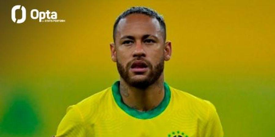 Hasil Kualifikasi Piala Dunia 2022 - Insiden Neymar Tabok Lawan Jadi Sorotan