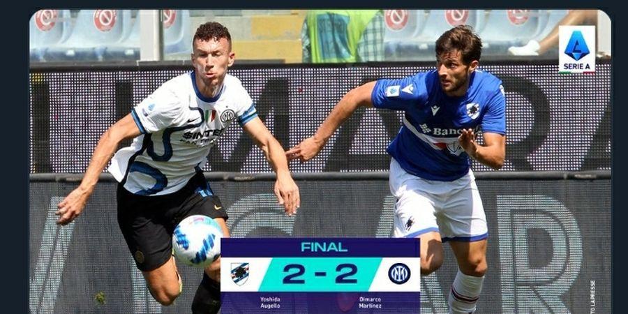 Hasil Liga Italia - Kejar-kejaran Gol, Sampdoria Rusak Hasil Sempurna Inter Milan