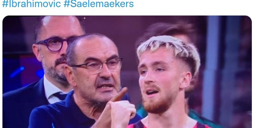 AC Milan Vs Lazio - Bukan Picu Keributan, Zlatan Ibrahimovic Justru Jadi Juru Damai di Insiden Kartu Merah Maurizio Sarri