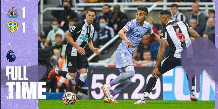 Hasil dan Klasemen Liga Inggris - Gol Tepi Lapangan Dibayar Gol Kecohan 4 Pemain, Leeds dan Newcastle Sama-sama Belum Menang