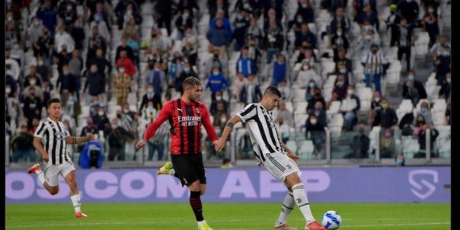 Hasil Babak I - Gol Kilat Alvaro Morata Bawa Juventus Ungguli AC Milan