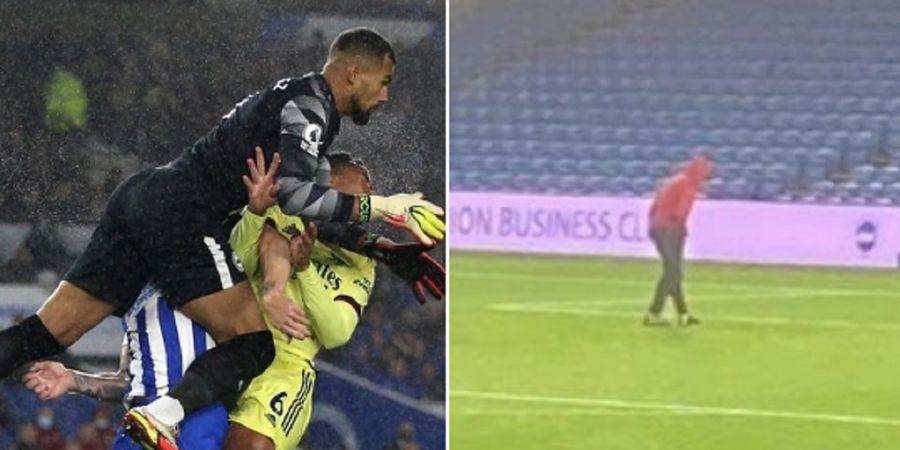Lawan Brighton and Hove Albion, Bek Arsenal Lagi-lagi Kehilangan Gigi saat Pertandingan