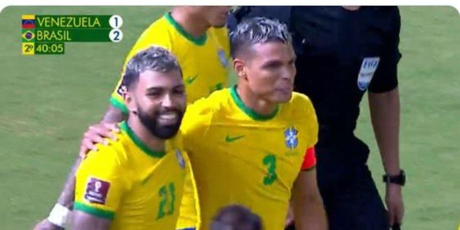 Hasil Kualifikasi Piala Dunia - Gol Gabigol Asoi, Brasil Buat Lionel Messi dkk seperti Tim Ecek-ecek