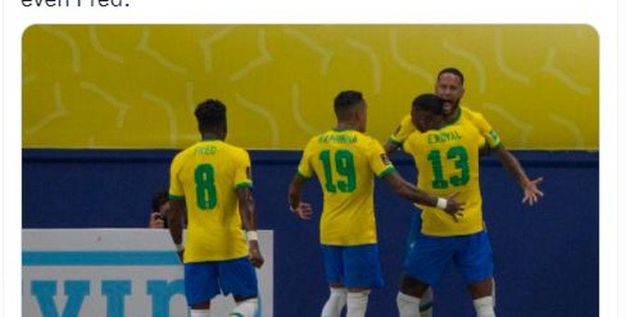 Hasil Kualifikasi Piala Dunia 2022 - Lewat Brace Incaran Liverpool, Brasil Sengsarakan Uruguay di Kandang