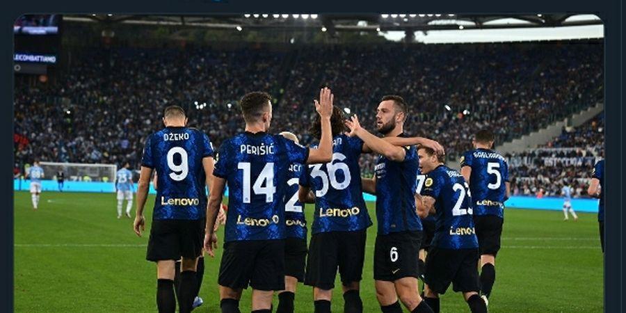 Hasil Babak I - Kalah Dominan, Inter Milan Ungguli Lazio Lewat Penalti