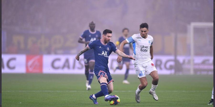 Hasil Liga Prancis - Lionel Messi Diganggu Penonton, 10 Pemain PSG Ditahan Marseille