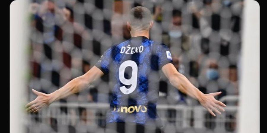 Sebiji Gol Edin Dzeko Bawa Inter Milan Ungguli Juventus di Babak Pertama