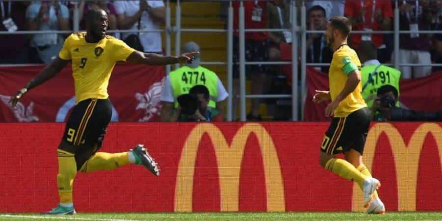 VIDEO - Aksi Sportif Romelu Lukaku yang Tolak Dihadiahi Penalti oleh Wasit Saat Kontra Tunisia