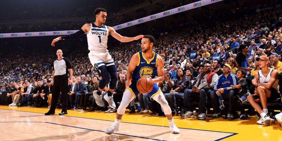 Hasil NBA 2018/19 - Ketajaman Trisula Warriors Paksa Timberwolves Pulang dengan Kekalahan