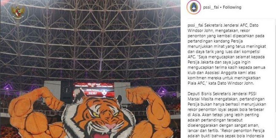 Janggal! Diserang karena Posting Koreo The Jakmania, Kolom Komentar Instagram PSSI Dimatikan