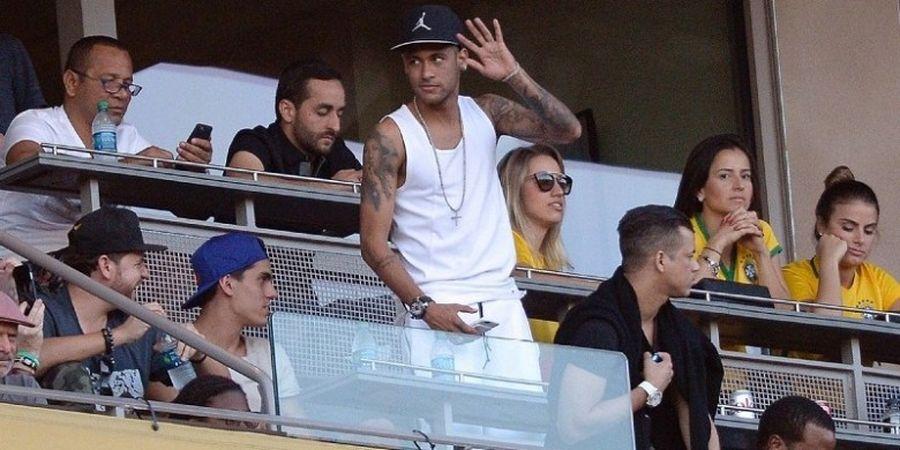 Neymar dan Justin Bieber Nonton Bareng Laga Copa America