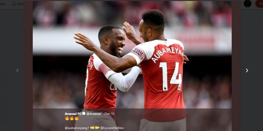 Susunan Pemain West Ham United Vs Arsenal - The Gunners Maksimalkan Peran Aubameyang-Lacazette