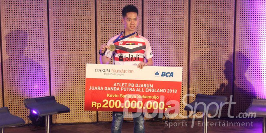 Djarum Foundation Guyur Kevin Sanjaya Sukamuljo dengan Bonus Senilai Rp 250 Juta