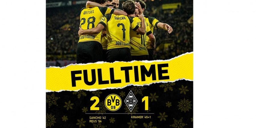 Hasil Liga Jerman - Pemain 18 Tahun Gocek Lawan 41 Kali, Borussia Dortmund Juara Paruh Musim
