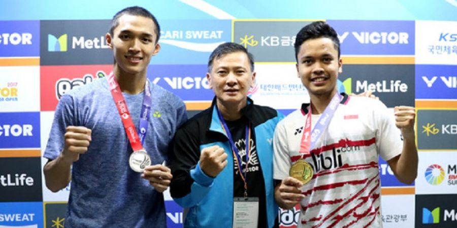 Pelatih Tunggal Putra Indonesia Angkat Bicara Soal Anggapan Anthony Ginting Juara Karena Absennya Kento Momota