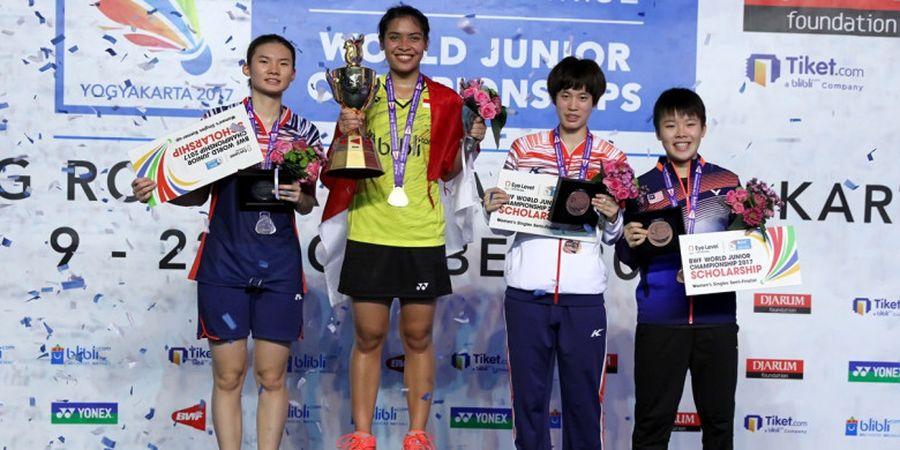 Kejuaraan Dunia Junior 2017 - Gregoria Raih Medali Emas