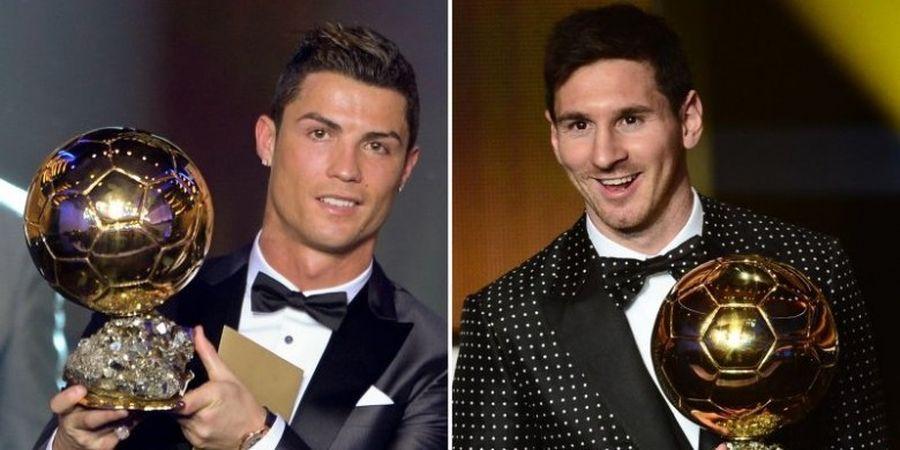 Beda Jauh, Reaksi Penonton terhadap Ronaldo dan Messi Saat Raih Ballon d'Or