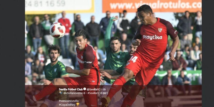 Hasil Copa del Rey Jumat (2/11/2018) - Sevilla dan Espanyol Gagal Petik Kemenangan