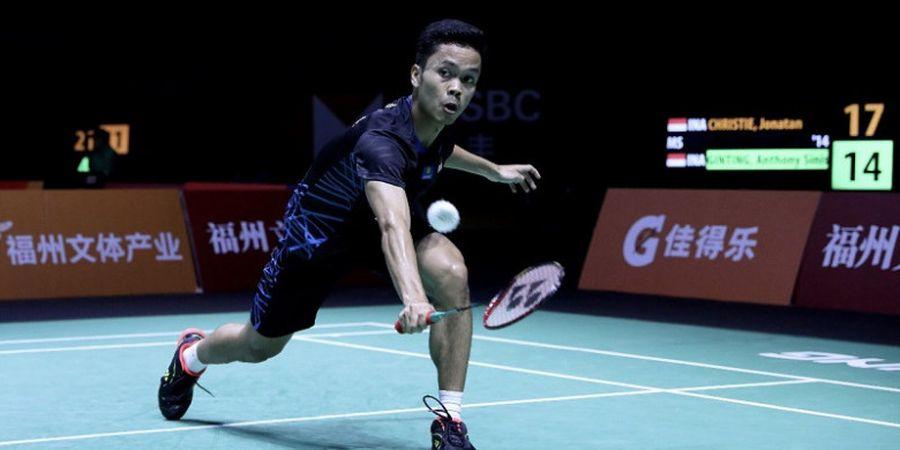 Anthony Ginting Hadapi Tommy Sugiarto pada Babak Pertama Indonesia Masters 2019