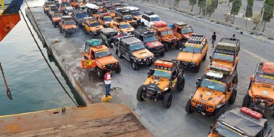 Kendaraan Gagah Peserta Offroad IOX 2017 Telah Tiba di Kendari