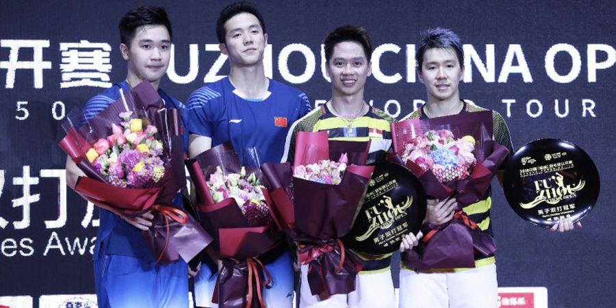 Final Fuzhou China Open 2018 - Marcus/Kevin Akui Sempat Tertekan Saat Hadapi Wakil China