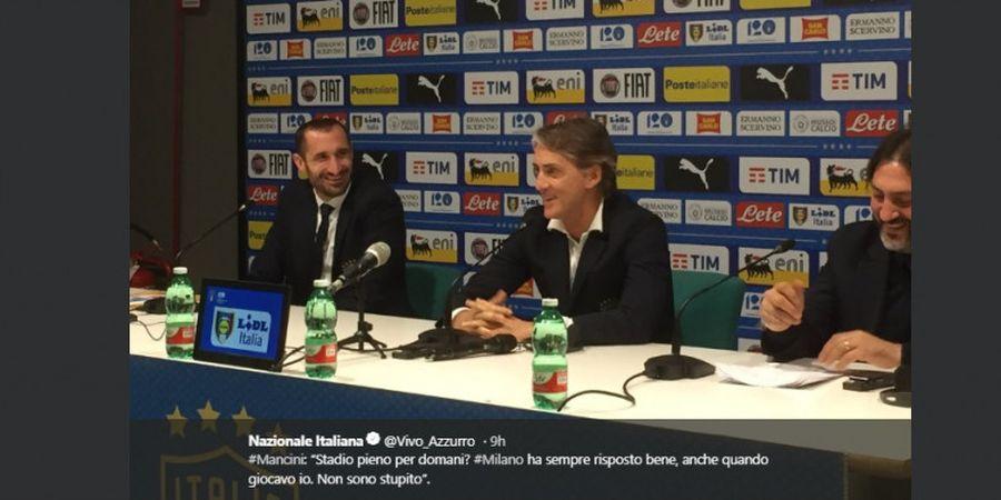 Italia Vs Portugal - Roberto Mancini Ungkap Striker yang Bakal Diturunkan