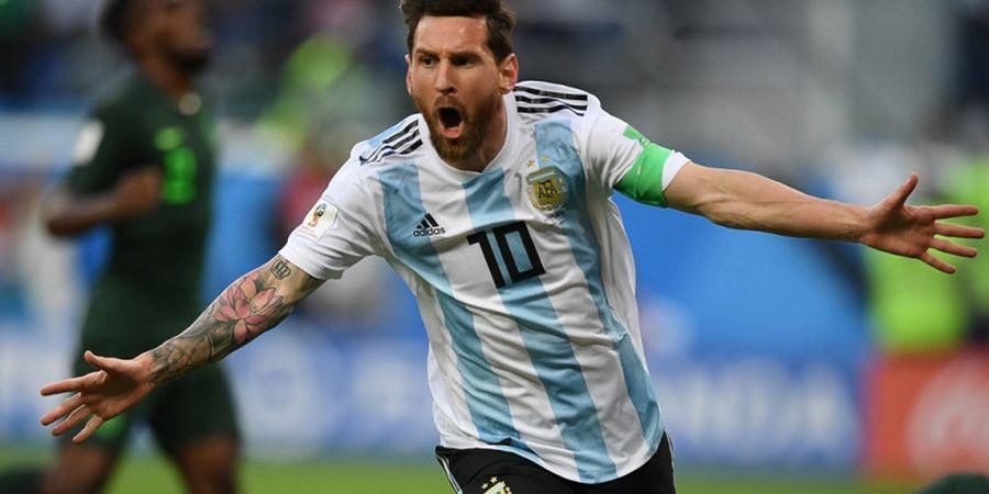 Nigeria Vs Argentina - Gol Lionel Messi Bawa La Albiceleste Unggul pada Babak Pertama