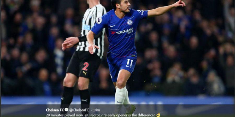 Gol Cantik Pedro Dibuyarkan Sundulan Bek Newcastle United