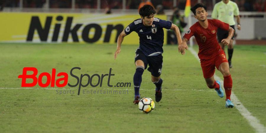 Timnas U-19 Indonesia Tertinggal dari Jepang Lewat Sepakan Spektakuler