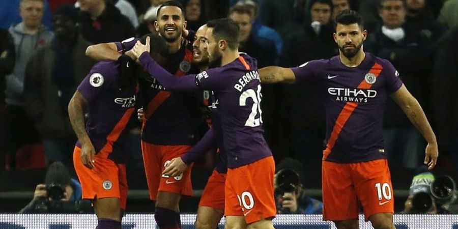 Tottenham Hotspur Vs Manchester City - Riyad Mahrez Menangkan Citizens di Stadion Wembley