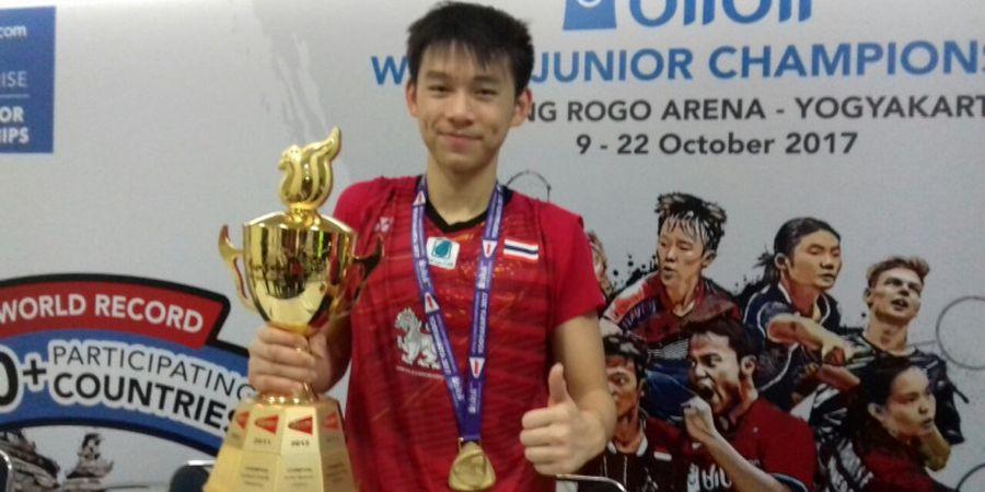 Kejuaraan Dunia Junior 2017 - Jadi Juara Tunggal Putra, Kunlavut Vitidsarn Cetak Sejarah