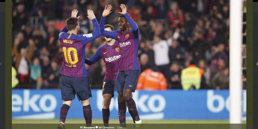 Berkat Lionel Messi, Barcelona Cetak 2 Gol dalam 2 Menit