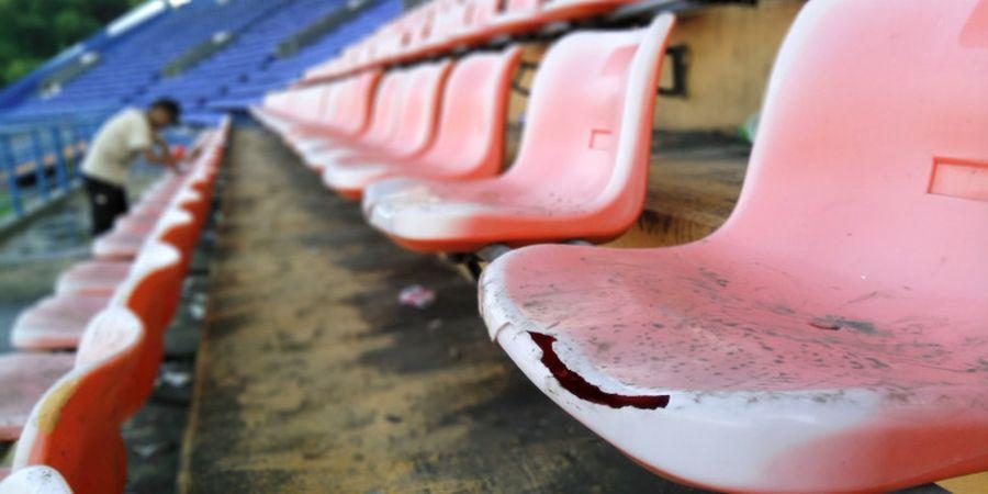 Jelang Kontra Thailand U-19, Panpel Borneo FC Benahi Kerusakan Bangku Stadion Segiri