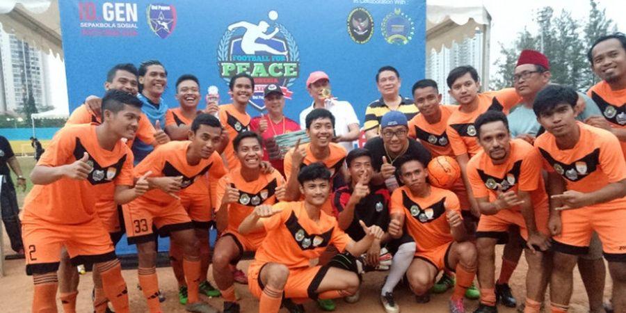 Anak Pesantren Juara Football for Peace Festival 2018
