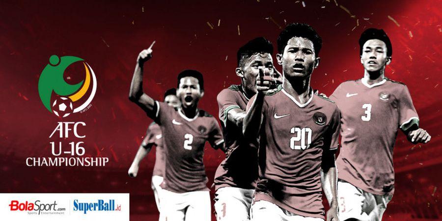 Timnas U-16 Indonesia Berpeluang Besar Lolos ke Perempat Final Piala Asia U-16 2018