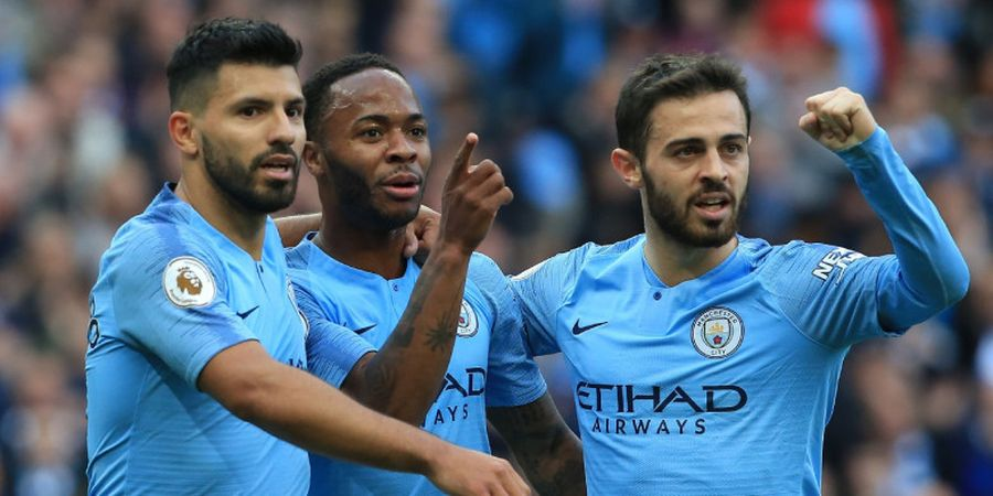 Manchester City Vs Brighton - Babak Pertama, Sterling Bawa The Citizens Unggul