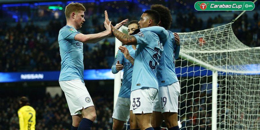 Hasil Piala Liga Inggris - Manchester City Remukkan Burton Albion 9-0, Satu Kaki Sudah di Final