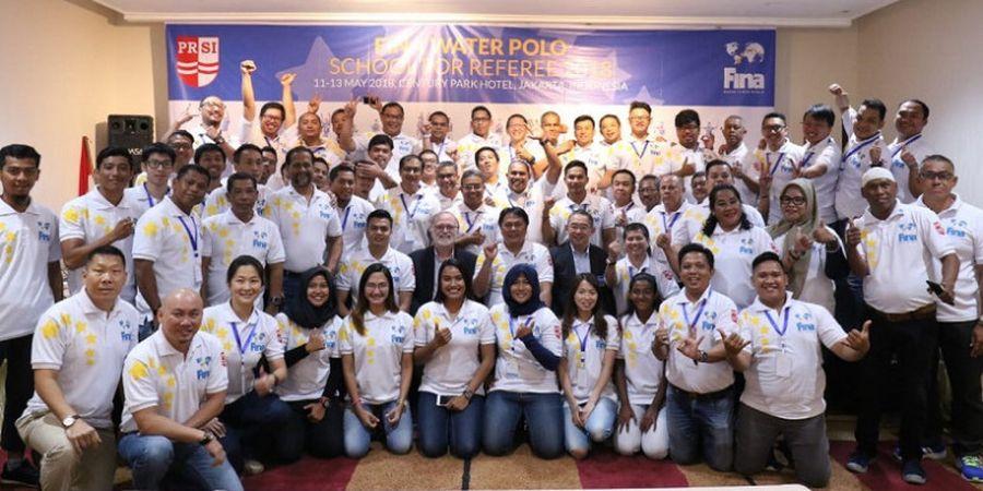 73 Wasit Polo Air Nasional dan Internasional Ikuti Pelatihan FINA di Jakarta