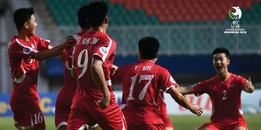 Piala Asia U-19 2018 - Timnas U-19 Korea Utara Bangkit, Menang, dan Berpeluang Melaju dari Grup B