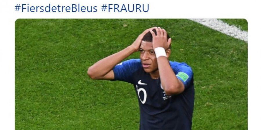 Prancis Vs Uruguay - Kylian Mbappe Cedera Bahu, Skor Seri pada Babak Pertama