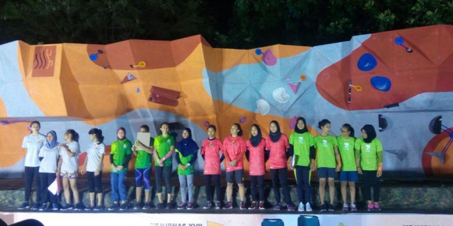 Dikapteni Atlet Asian Games 2018, Jawa Tengah Sukses Raih Medali Emas di Nomor Boulder Tim Putri