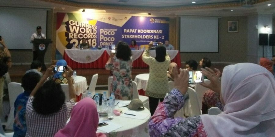 Pemecahan Rekor Dunia Senam Poco-poco Akan Dilakukan Jelang Asian Games 2018