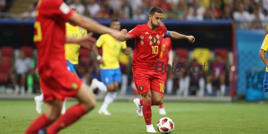 Eden Hazard Khawatir dengan 2 Gol Romelu Lukaku di Laga UEFA Nations League