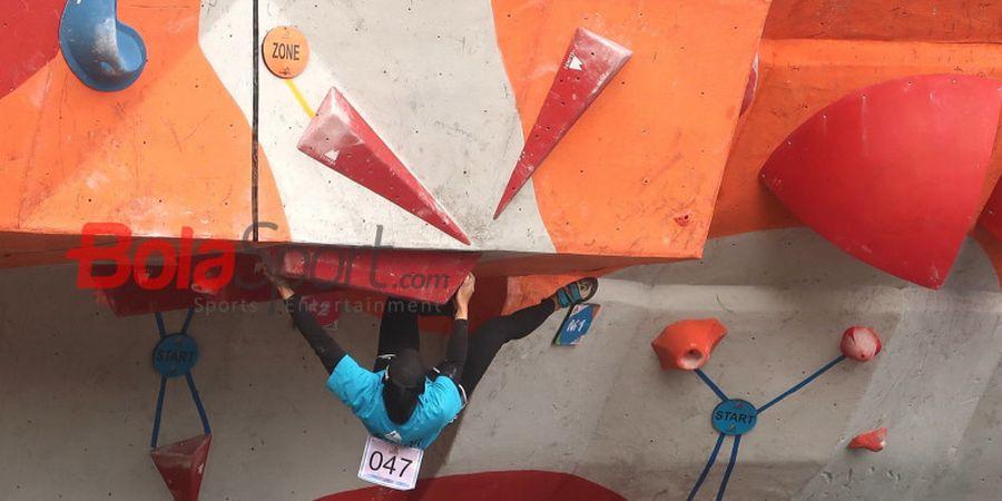 Kejuranas Panjat Tebing 2018, Nurul Iqamah Raih Medali Emas Nomor Combined Putri