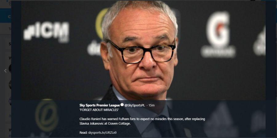 BREAKING NEWS - Claudio Ranieri Ditunjuk sebagai Pelatih AS Roma