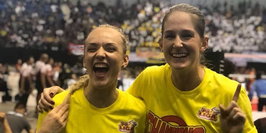 Akhirnya! Usai Raih Gelar Juara Proliga 2018, Bule Cantik Ini Bisa Pulang Kampung