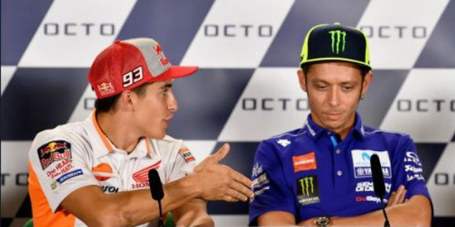 Ucapan Maaf Valentino Rossi Usai Tolak Jabat Tangan Marc Marquez