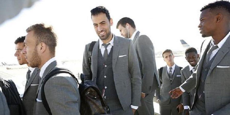 Terbang ke Markas Tottenham Hotspur, Skuat Barcelona Pakai Kostum Mahal Bernilai Puluhan Juta Rupiah