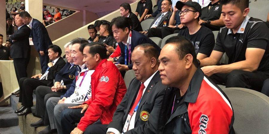 Asian Games 2018 - Didampingi CdM Indonesia, Presiden Joko Widodo Jadi Saksi Raihan Emas dari Taekwondo