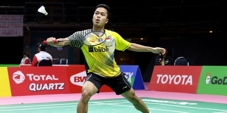 Anthony Sinisuka Ginting Ditekuk Son Wan-ho, Indonesia Tertinggal 0-1